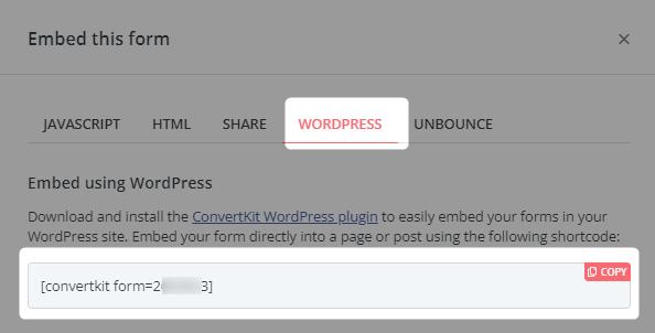 【ConvertKit】WordPressでフォームを表示する方法